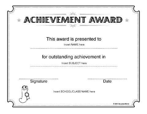 13 best Awards for School images on Pinterest | Certificate ...