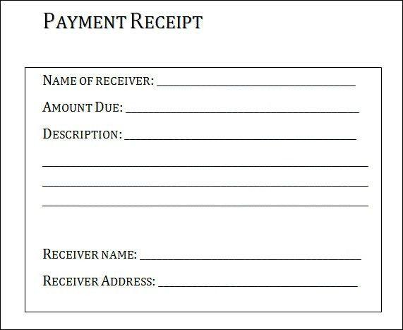 Payment Receipt Template Word | Best Business Template's