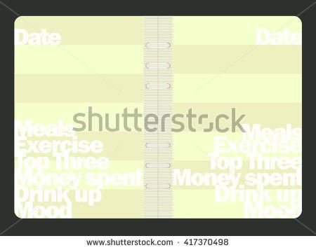 Lets Cook Weekly Menu Daily Planner Stock Vector 326543654 ...