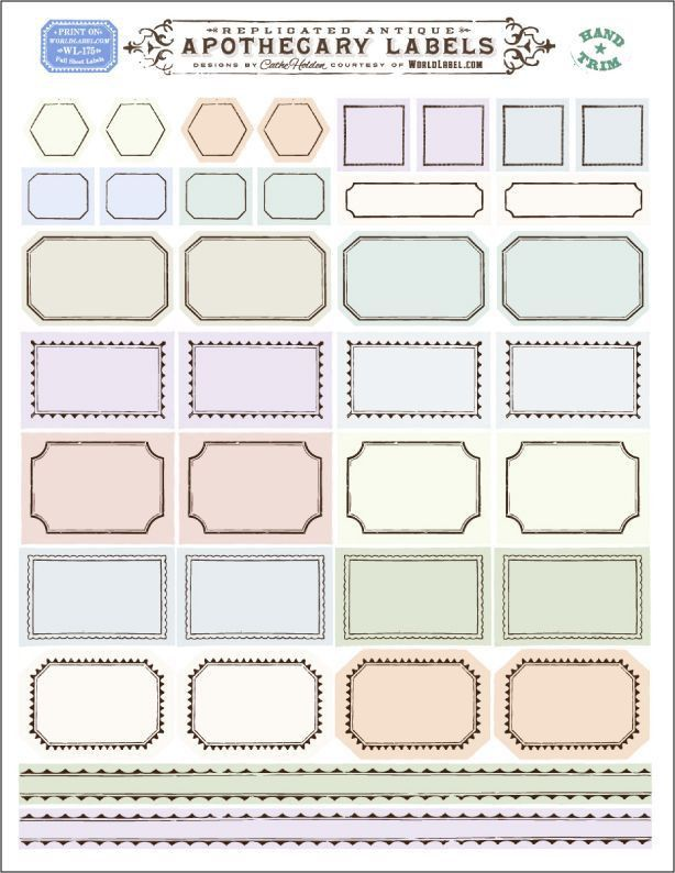 Best 25+ Blank labels ideas on Pinterest | Printable labels, Free ...