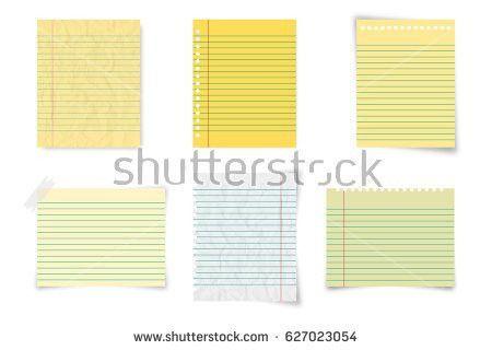 Free Notebook Paper Vector - Download Free Vector Art, Stock ...