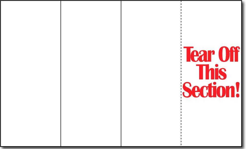 4 Panel Brochure Template | 4 Panel Brochure Folds | Desktop Supplies
