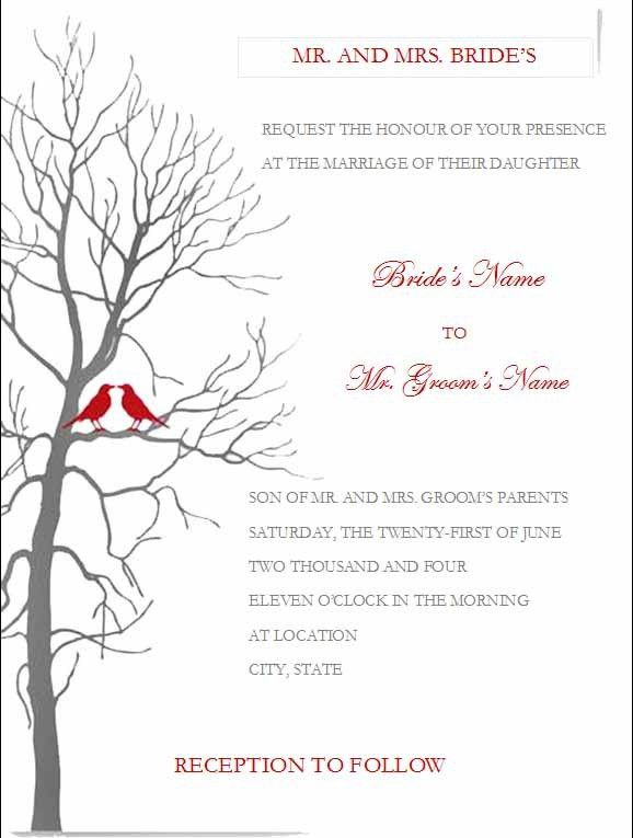 Simple Wedding Invitations Templates Free | Lake Side Corrals