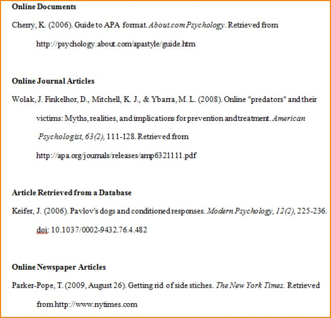 7+ bibliography apa format example | bibliography format