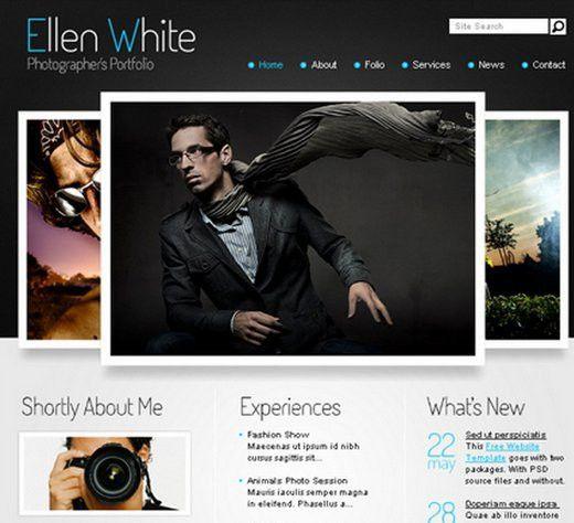 18 Free PSD Portfolio Website Templates | WebDesignity