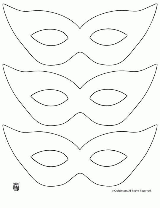 Mardi Gras Mask Craft {and Template} - Woo! Jr. Kids Activities