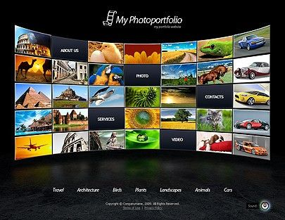 Photo Portfolio website template for free - Tonytemplates blog