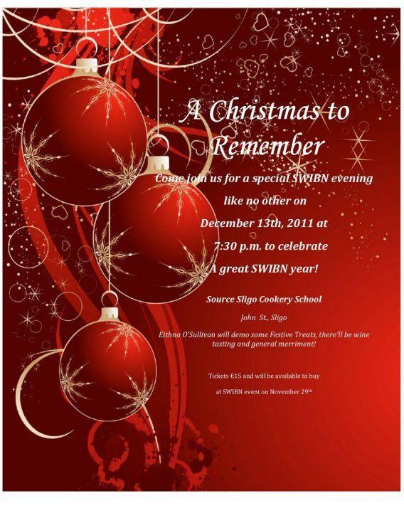 Free Printable Holiday Party Invitation Templates | cimvitation