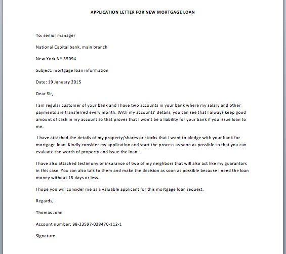 Loan request letter loan request letter writing professional application letter for new mortgage loan smart letters altavistaventures Images