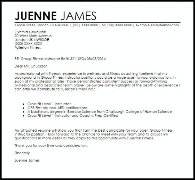Group Fitness Instructor Resume – Resume Examples