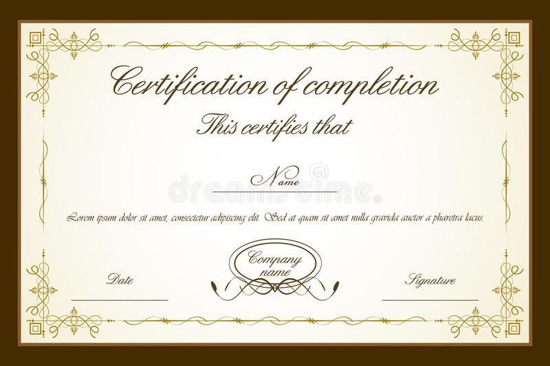 Certificate Template Royalty Free Stock Photos - Image: 19259378