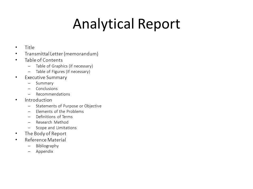 Formal Report. - ppt video online download