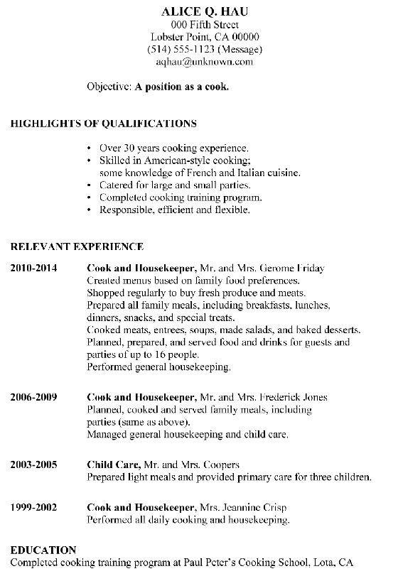 resume examples housekeeping unforgettable housekeeper resume