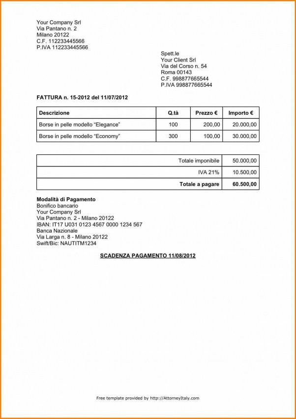 Examples Of Invoices For Services Rendered | Design Invoice Template