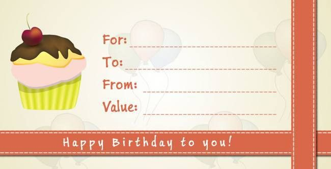 happy birthday gift certificate template | Pictures Reference