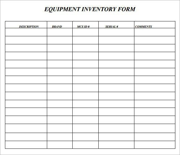 office supply inventory form template