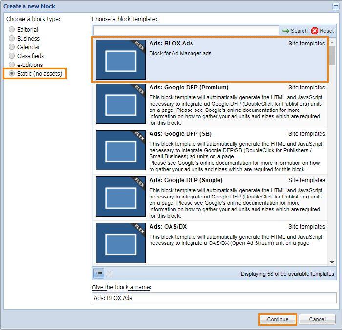 How do I create an ad position in BLOX CMS? (Flex only) | Tasks ...