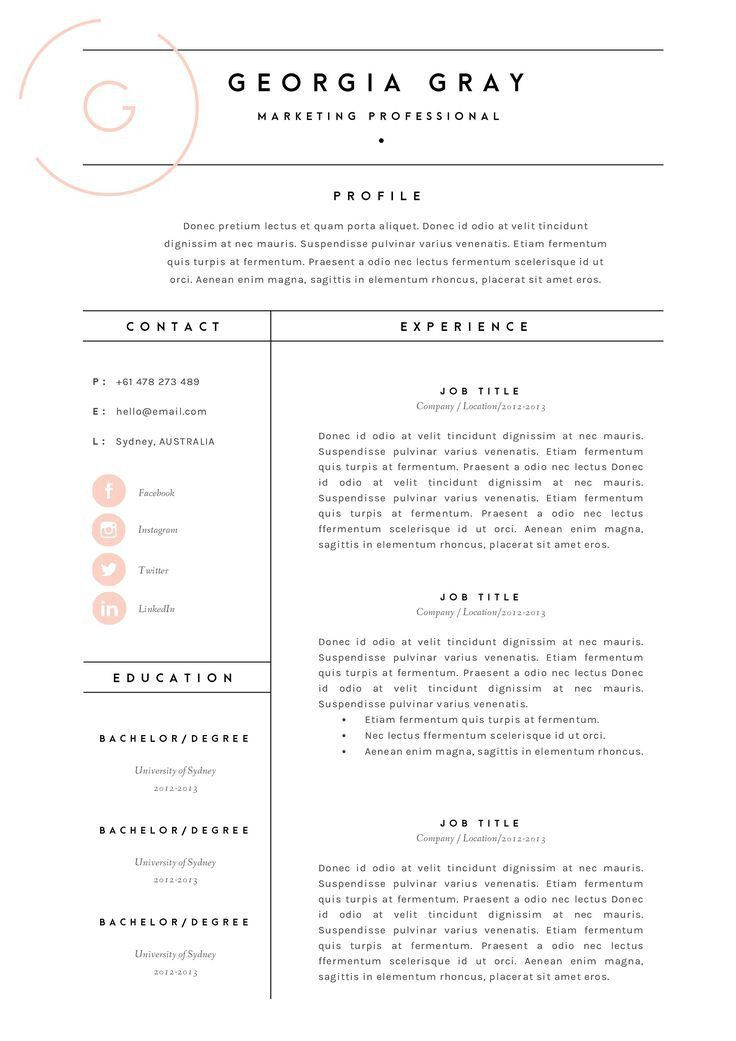 Download Resume Layouts | haadyaooverbayresort.com