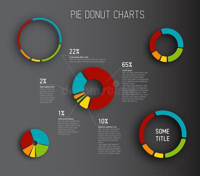 Vector Donut Pie Chart Templates Stock Vector - Image: 41411621