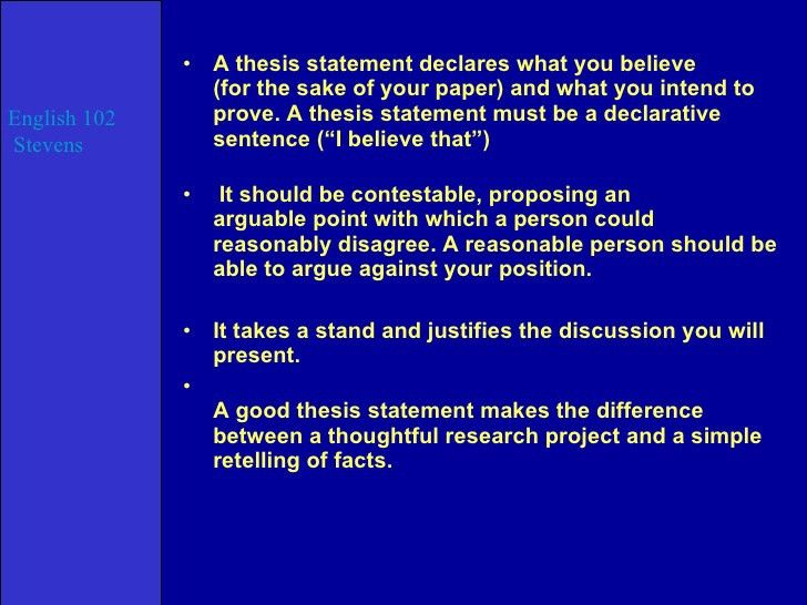 thesis in an english essay Thesis statements in literary analysis papers the thesis statement is one of the this does not say enough to serve as the basis for an essay.