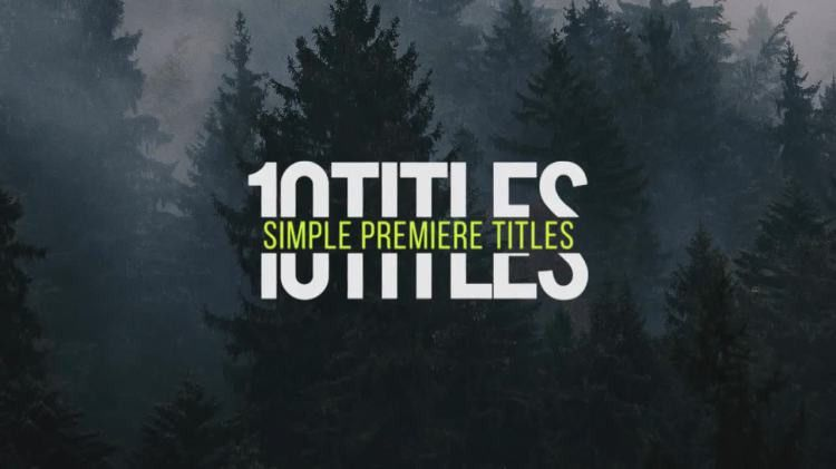 Smooth Titles - Premiere Pro Templates | Motion Array