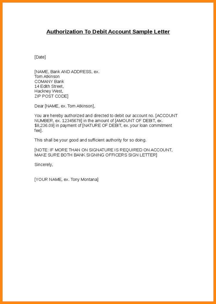7+ authorization letter for bank | model resumed