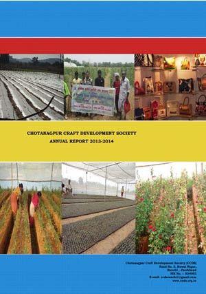 Annual Report 2013-14 CCDS - CHOTANAGPUR CRAFT DEVELOPMENT SOCIETY ...