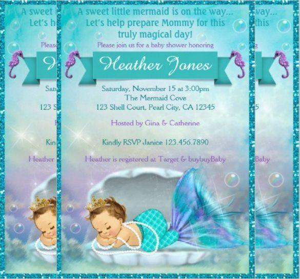 Mermaid Baby Shower Invitations – gangcraft.net