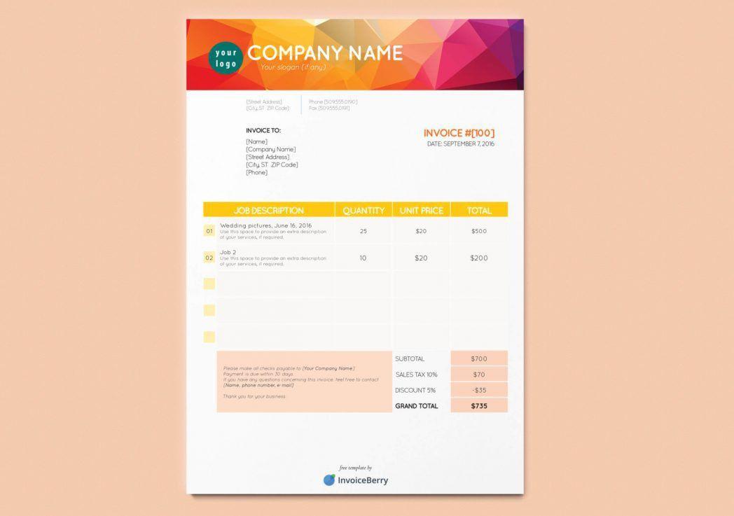 Mock Invoice Template [Nfgaccountability.com ]
