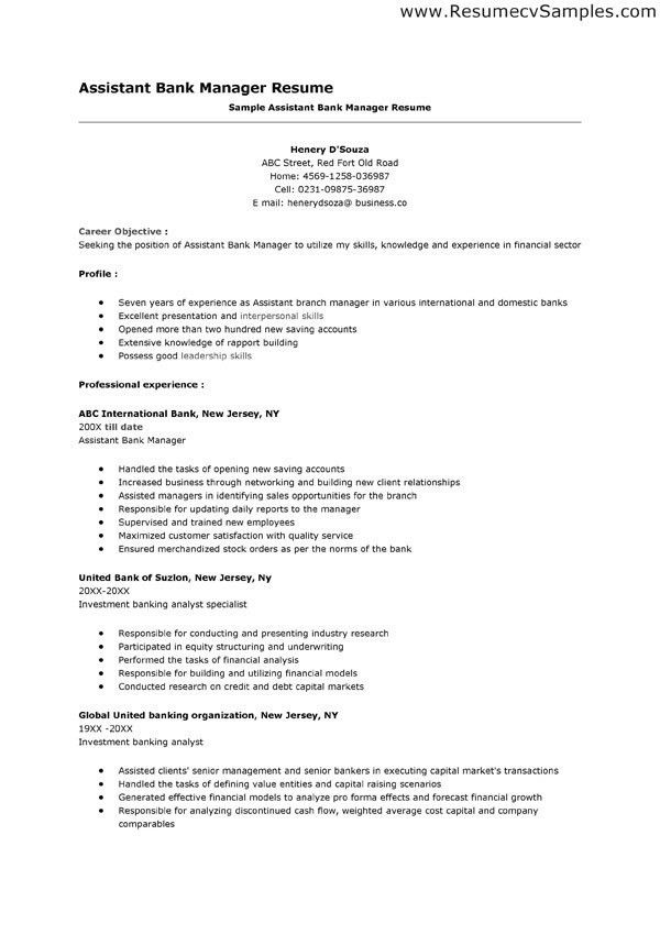 teller resume samples resume cv cover letter. sample banking ...