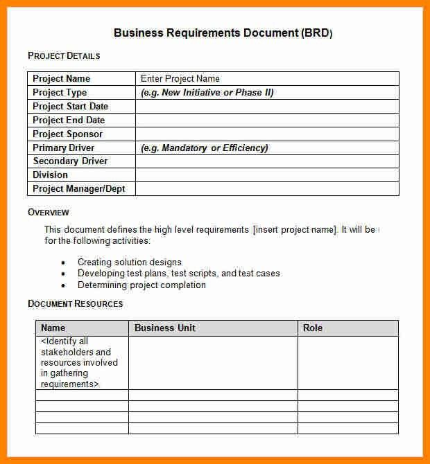 13+ business requirement document example | job resumed