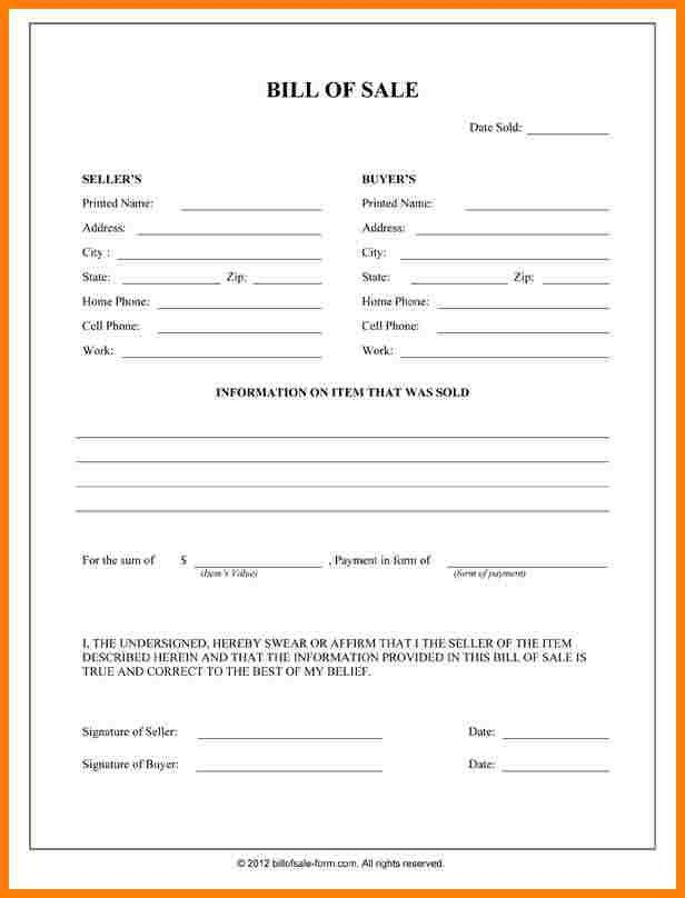 10+ general bill of sale form | letter format for