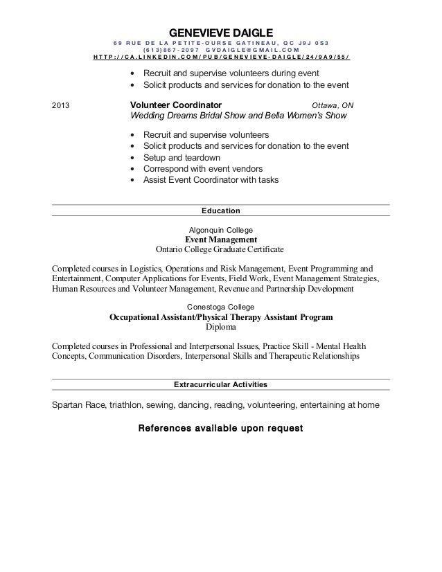 Event Planner Resume. Old Version Old Version Old Version Event ...