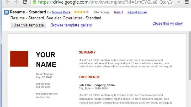 Resume Templates For Google Docs - Business Plan Template