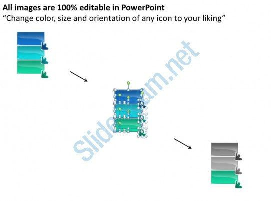 3 Steps To Lead And Follow Flowchart Free Powerpoint Templates ...