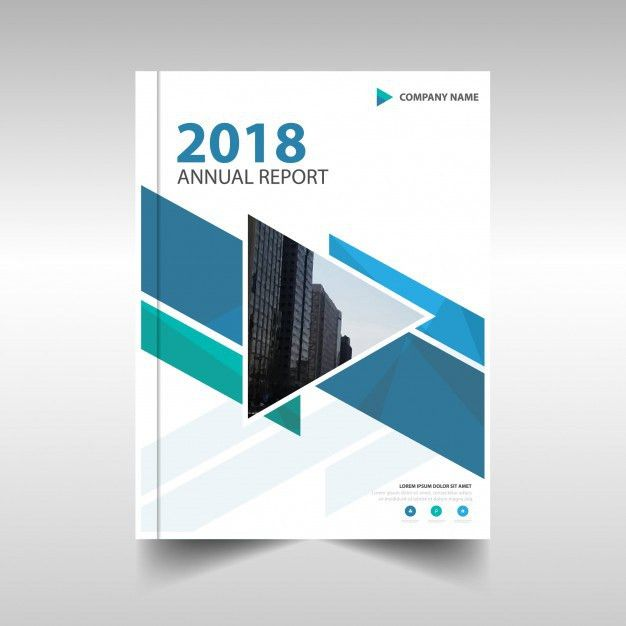 Blue creative annual report template Vector | Free Download