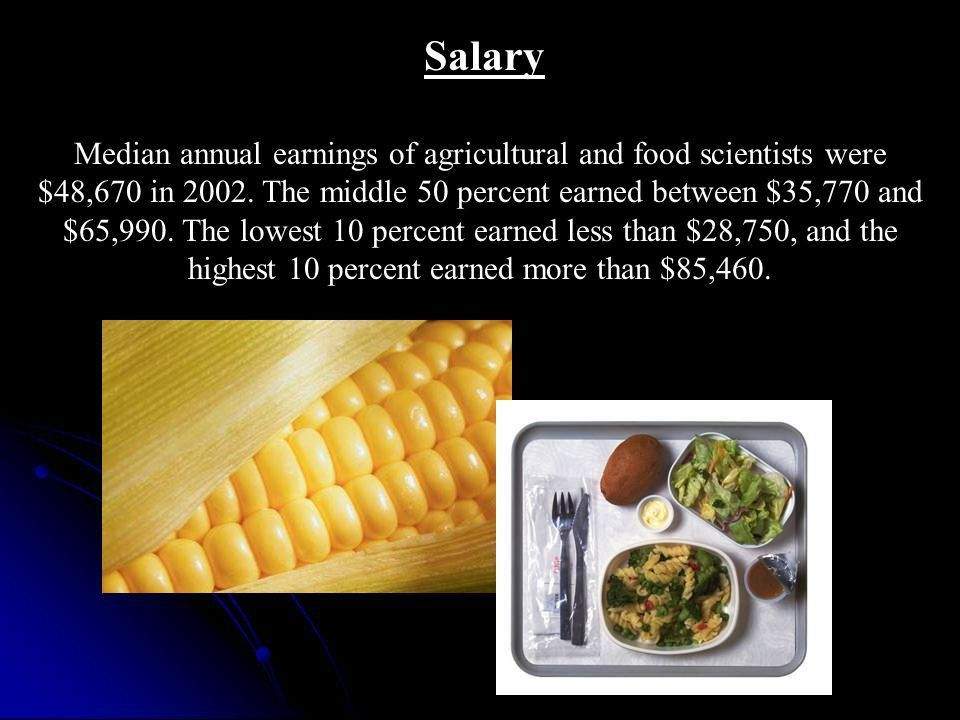 Agricultural Careers Food Scientist By: Dr. Frank Flanders and ...