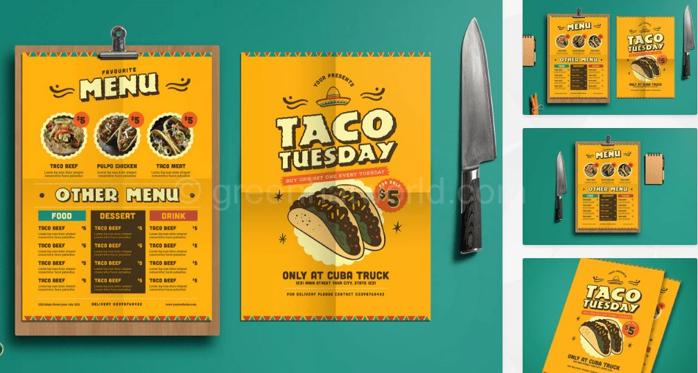 Download Mexican Food Menu Template Free