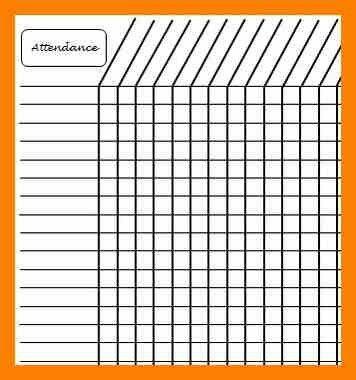 5+ attendance sheet printable | attendance sheet