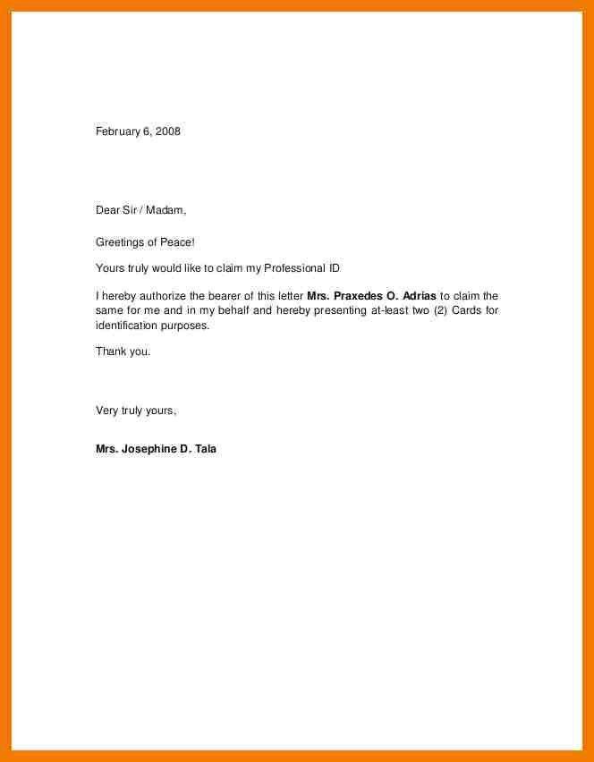 8+ authorization letter samples on behalf | mailroom clerk