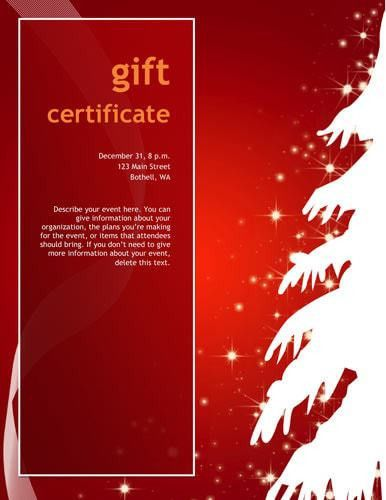 10 Printable Free Christmas Gift Certificates