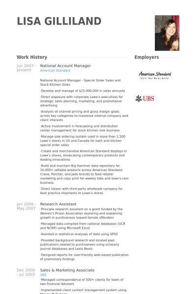 National Account Manager CV Örneği - VisualCV Özgeçmiş Örnekleri ...