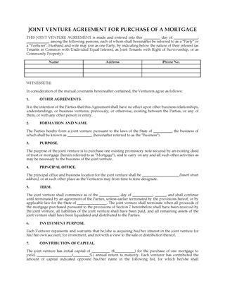 USA Partnership and Joint Venture Forms | Legal Forms and Business ...
