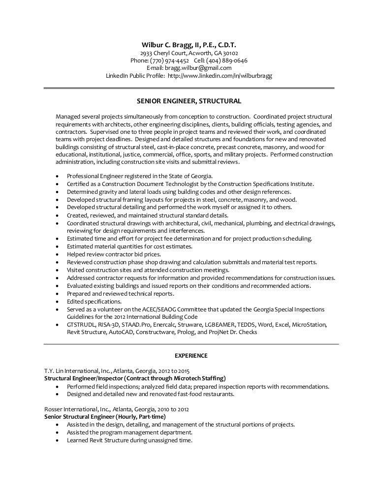 WCBragg PE resume