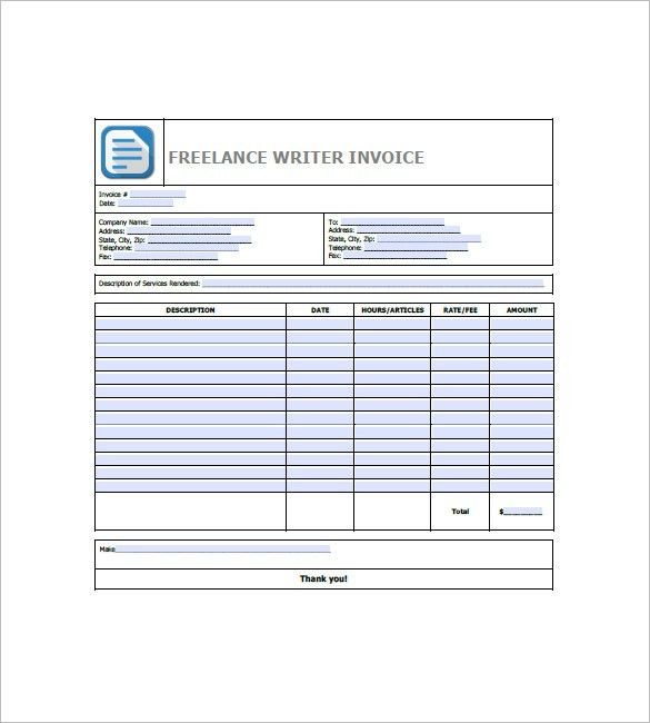 Freelance Invoice Template – 8+ Free Word, Excel, PDF Format ...
