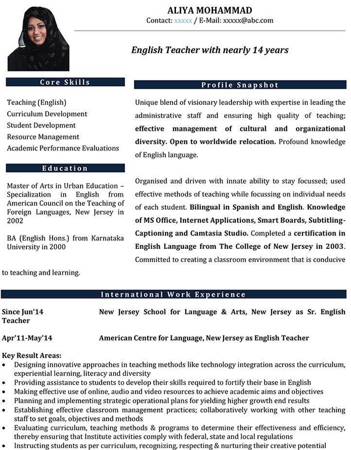 english teacher cv samples. business teachers resume s teacher ...
