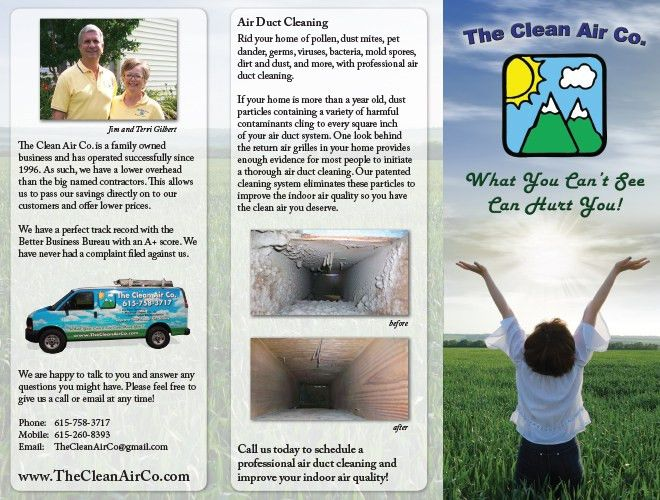 Clean Air Co - Tennessee Air Duct Cleaning Brochure