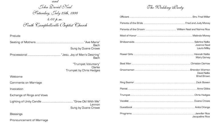 Church Wedding Program Templates - DIY Wedding • #55818