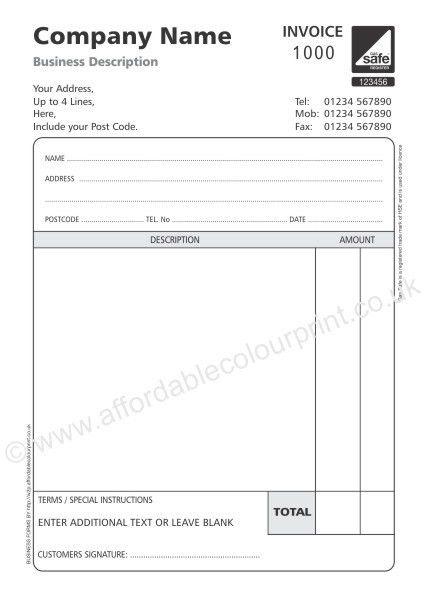 Non Vat Invoice Template | printable invoice template