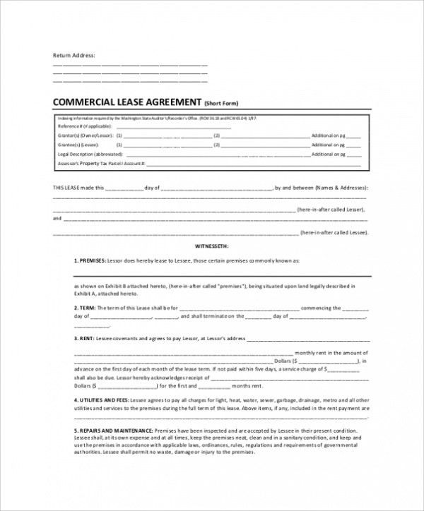 Sample Lease Agreement - 9+ Examples in PDF, Word